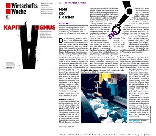 Our Wall-B at Wiwo, German Top Economic Magazine
