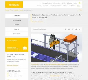 Ferrovial announces the recent installation of a Wall-B in one of its plants